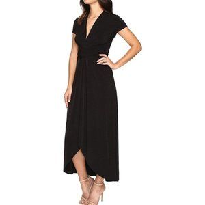 MICHAEL KORS Long maxi dress high low wrap Size 16
